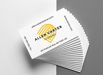 Изготовление визитной карточки